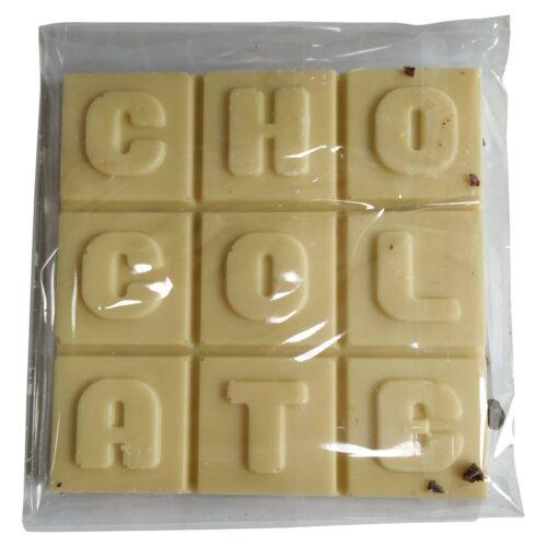 Σοκολάτα Λευκή με Νιφάδες Κακάο, Χωρίς Ζάχαρη, SteviaParana, 100γρ