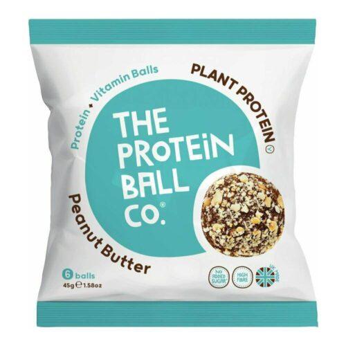 Peanut Butter Vegan, Μπάλες Πρωτεΐνης με Γεύση Φυστικοβούτυρο, The Protein Ball Co, 45gr
