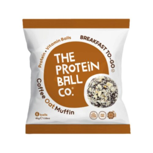 Coffee Oat Muffin, Μπάλες Πρωτεΐνης με Γεύση Καφέ, The Protein Ball Co, 45γρ